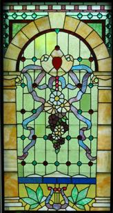 torch stained glass window