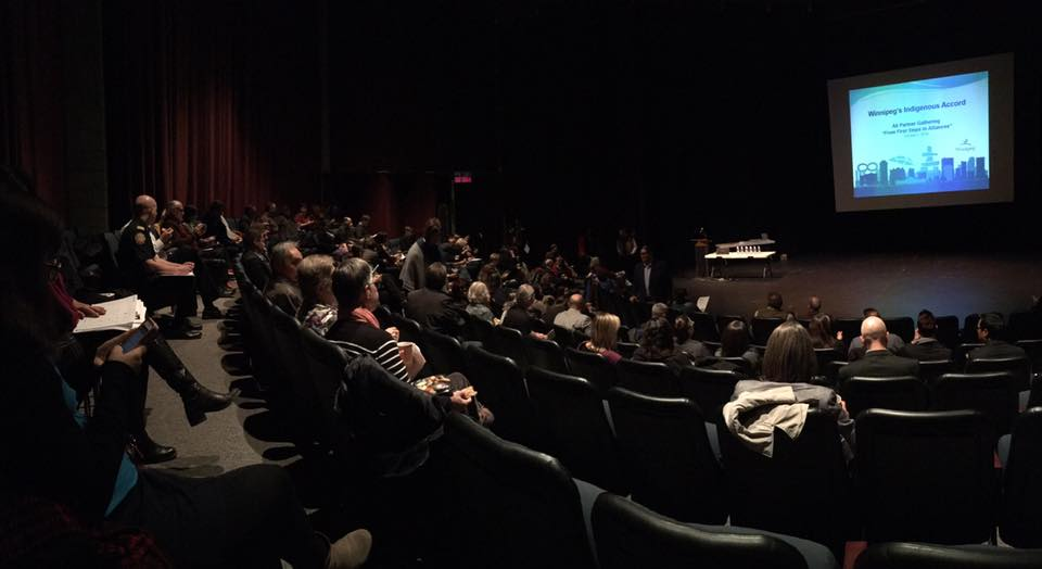audience at the indigenous accord