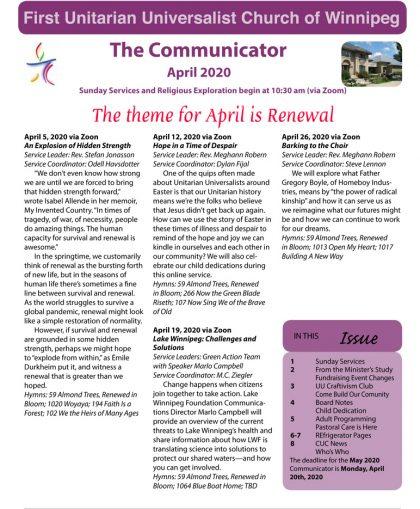 April 2020 Communicator