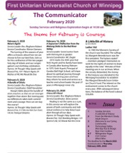 February communicator cover