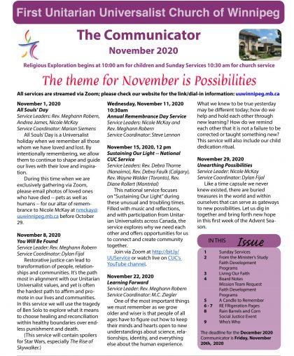 FP November 2020 Communicator