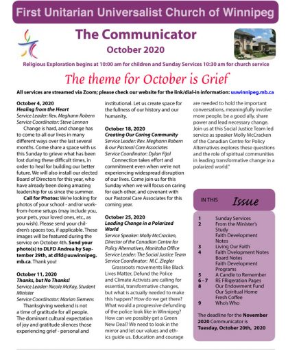 FP October 2020 Communicator