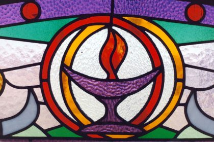 chalice stained glass window