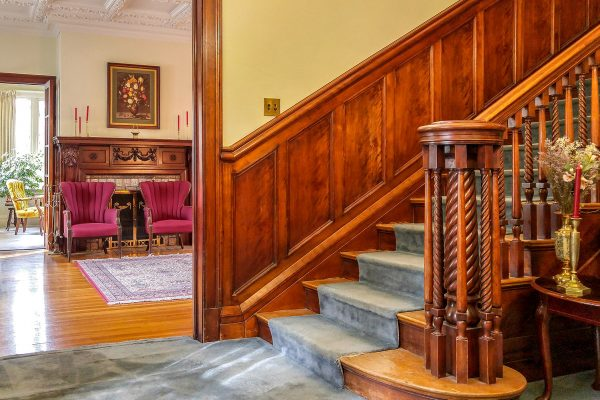 staircase in church house