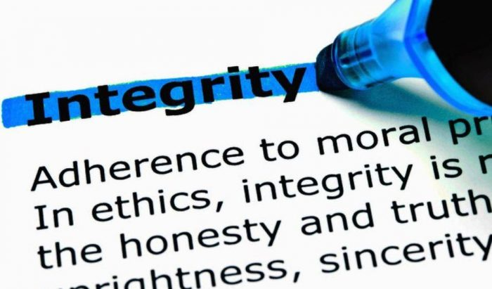 Integrity definition including adherence to morals, ethics, integrity, honesty, sincerity