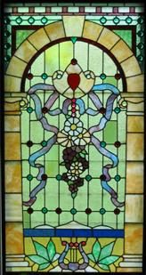 torch window stained glass