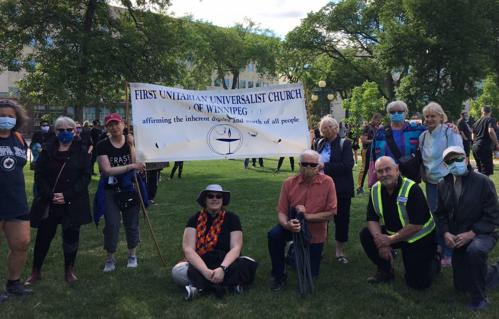 UU members at the BLM rally