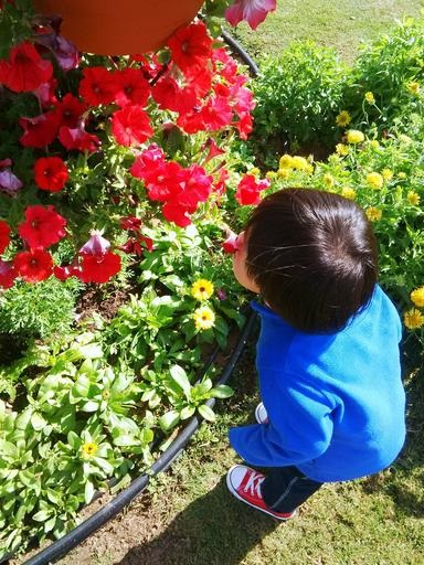 child-with-flowers-garden